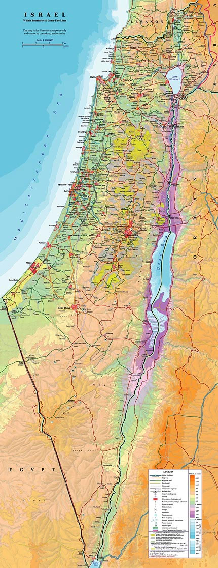 About Israel General Info - What continent is israel located