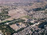 Aerial view of Jerusalem - Temple Mount and Mount of Olives