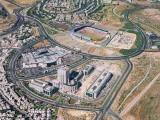 Aerial view of the Malha neighborhood and mall in Jerusalem