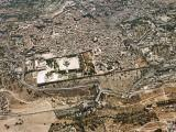 Aerial view of the Old City of Jerusalem