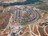 Aerial view of Kiryat Sefer, a religious community in the Jerusalem hills