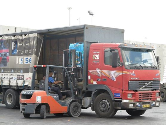Humanitarian aid transfered to Gaza at the Kerem Shalom Crossing