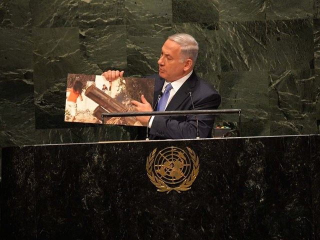 PM Netanyahu addresses the UN General Assembly