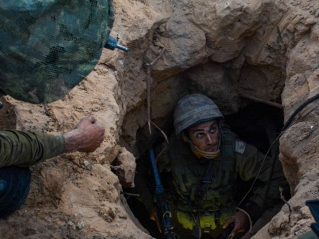 IDF soldiers search Hamas tunnels in Gaza