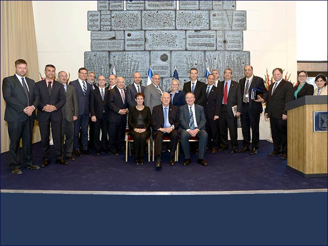President Rivlin with Israeli diplomats to North America