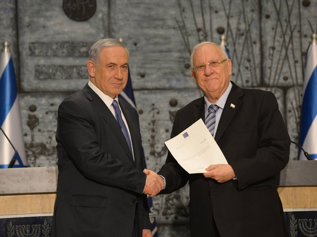 President Rivlin charges Benjamin Netanayhu with forming next government