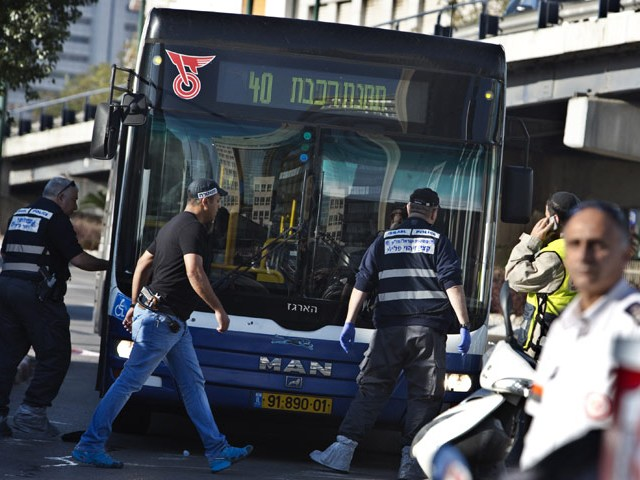 Scene of terror attack on Tel Aviv bus