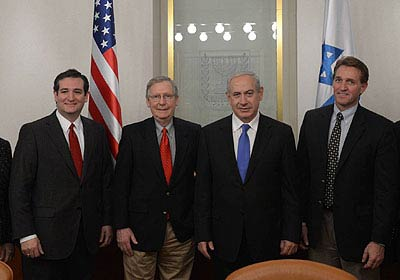 PM Netanyahu with members of the Senate delegation (Photo: GPO)