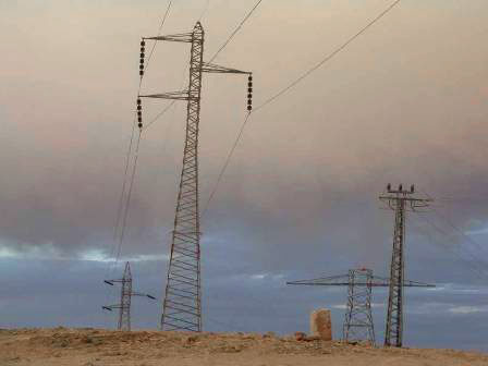 Electricity lines to Gaza