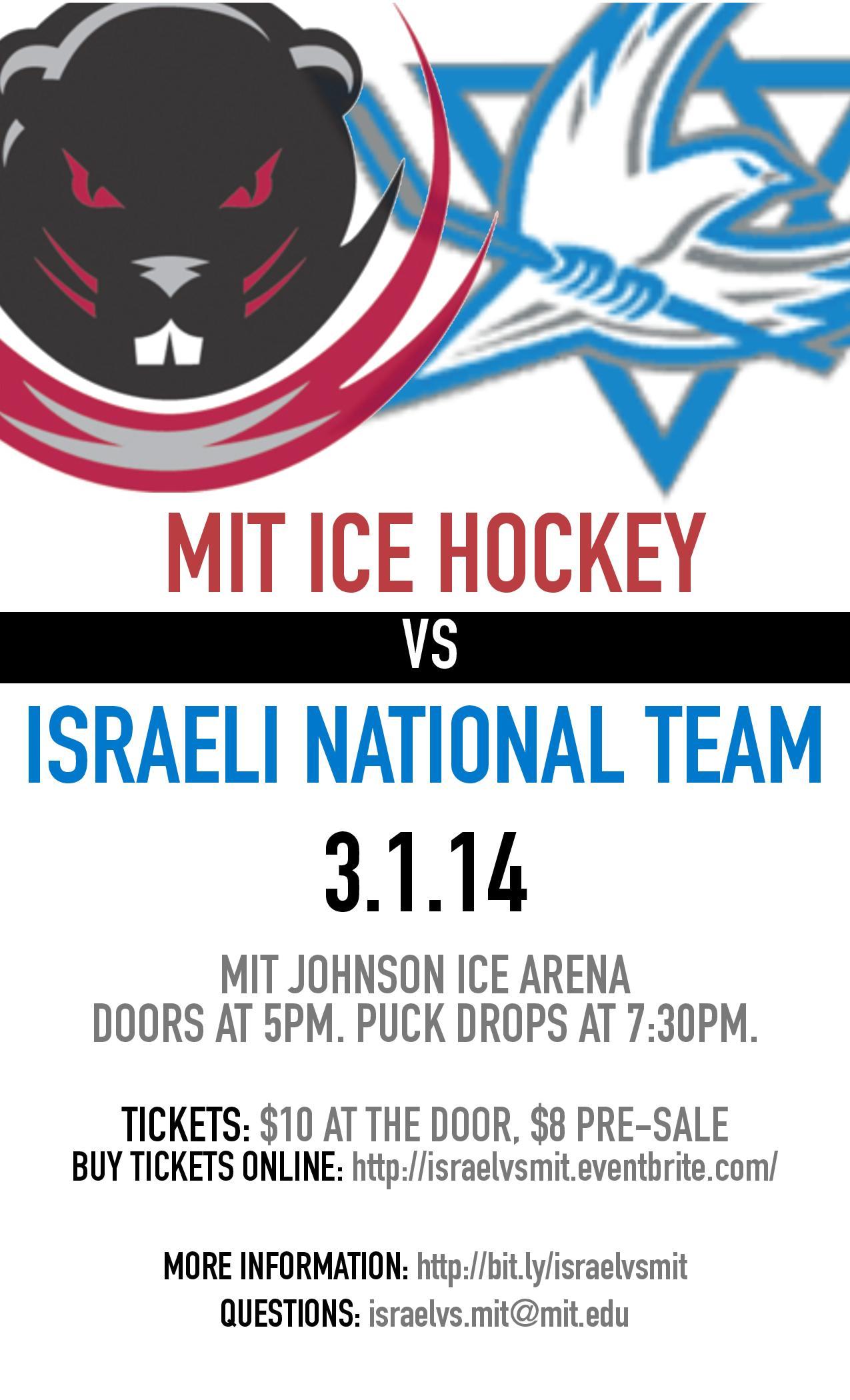 Israeli National Hockey Team Vs MIT Mens Ice