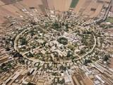 Aerial view of the moshav Nahalal
