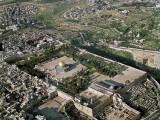 Aerial view of Jerusalem, with the Temple Mount in the center