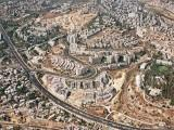 Aerial view of the Ramat Sharett neighborhood in Jerusalem