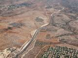 Aerial view of Road No. 443 near Jerusalem