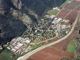Aerial view of Kibbutz Yagur on the slopes of Mount Carmel