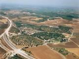 Aerial view of Kibbutz Nahshon in central Israel
