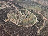 Aerial view of community of Hinanit in Samaria