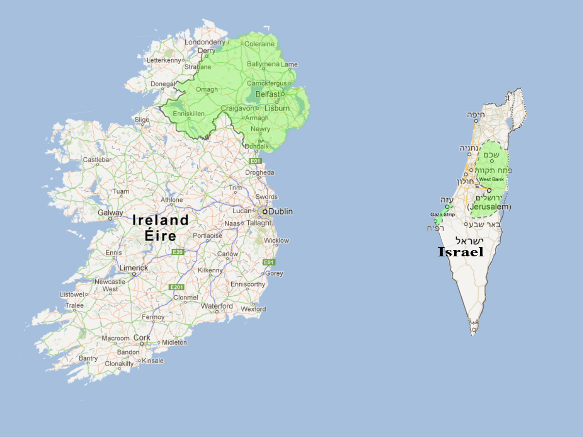 Israel Size: TIL Israel Is About The Size Of Connaught : Ireland