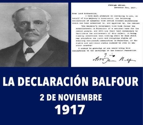 Resultado de imagen para Declaración Balfour