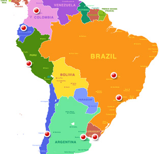 Israeli Missions Around The World on colombia map, colombo world map, bogota latin american map,
