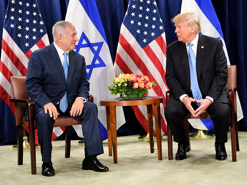 PM Netanyahu with US President Donald Trump in New York