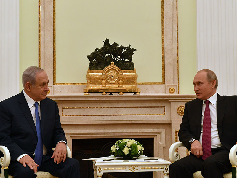 PM Netanyahu with Russian President Vladimir Putin in Moscow
